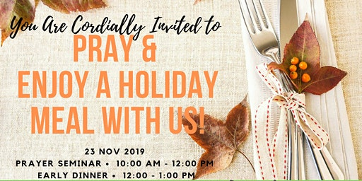 """A Mom's in Prayer Thanksgiving """"Seminar and Meal"""""""