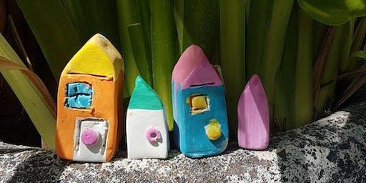 Colourful Mini Clay Houses