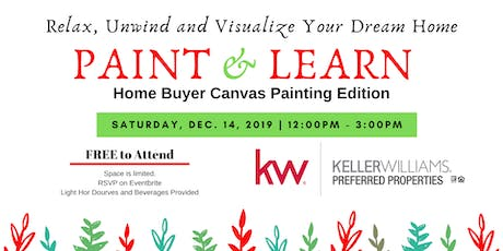 December Paint & Learn: Home Buyer Canvas Painting Edition tickets