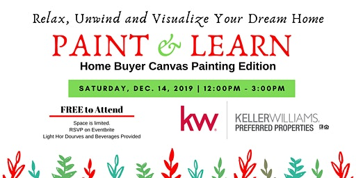 December Paint & Learn: Home Buyer Canvas Painting Edition