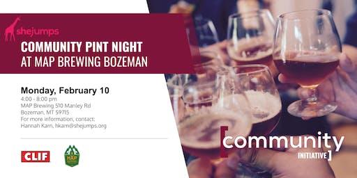 MT SheJumps Community Pint Night at MAP Brewing Bozeman
