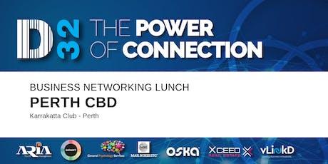 District32 Business Networking Perth – Perth CBD - Thu 05th Mar tickets