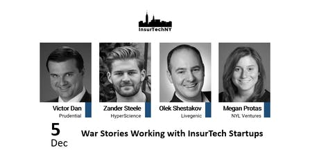 InsurTech NY: War Stories Working with InsurTech Startups tickets