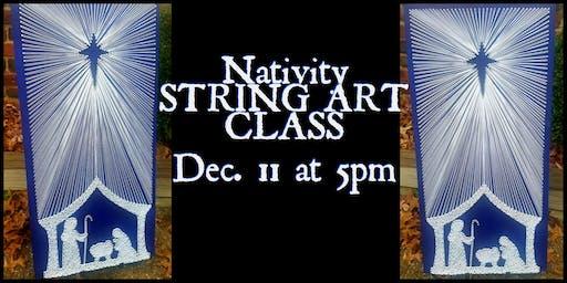 Nativity String Art Class