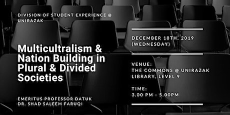 Multiculturalism & Nation Building in Plural & Divided Societies tickets