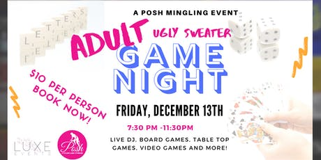 Adult  Ugly Sweater Game Night tickets