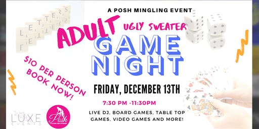 Adult  Ugly Sweater Game Night