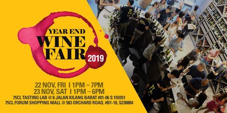 Year End Wine Fair 2019 – Up to 42 Labels of Your Favourite Wine Countries tickets