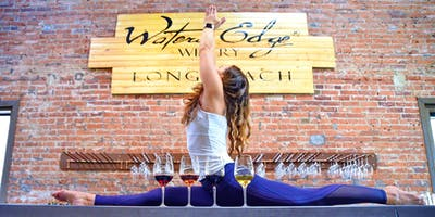 Wine Yoga At Waters Edge Winery