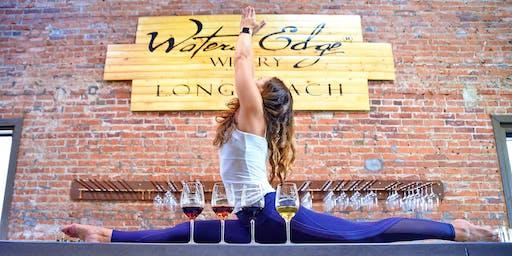 Wine Yoga at Waters Edge Winery