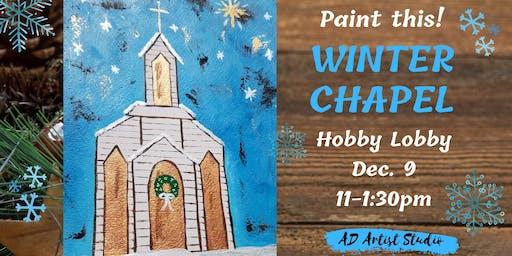 Winter Chapel at Hobby Lobby