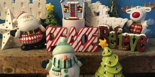 Holiday Ceramic Paint n Sip hosted by Into The Fire