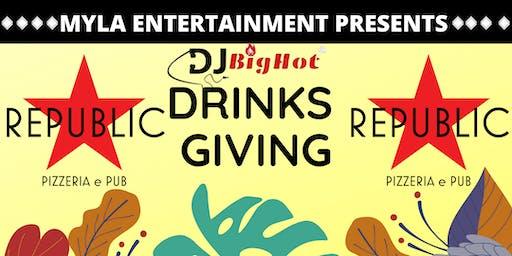 MYLA X REPUBLIC PIZZERIA CLUB DRINKSGIVING THANKSGIVING EVE WEDNESDAY PARTY