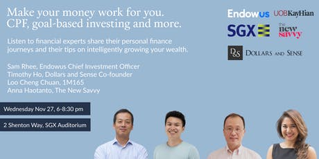 Make your money work for you: CPF, goal-based investing and more tickets