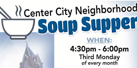 Center City Soup Supper Today. St. Mary's Star of the Sea. 3rd St. And 4th tickets