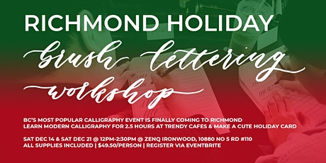 RICHMOND Christmas Holiday Brush Lettering CALLIGRAPHY Art Workshops tickets