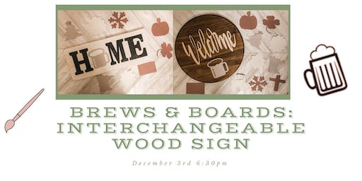Brew & Boards: Interchangeable Home Signs