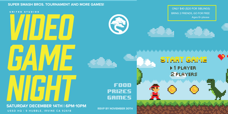 Video Game Night [Parent's Night Out] SAT 12/14 tickets