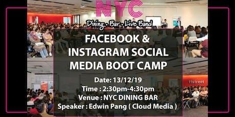 Facebook & Instagram Social Media Bootcamp x NYC Dining Bar tickets
