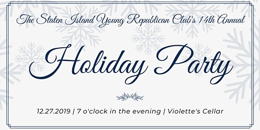 The Staten Island Young Republican Club's 14th Annual Holiday Party
