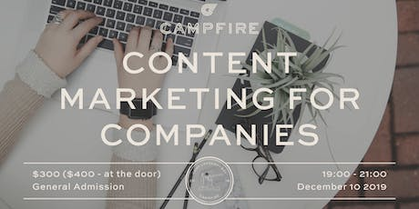 Content Marketing for Companies tickets