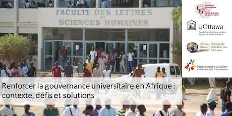 Renforcer la gouvernance universitaire en Afrique billets