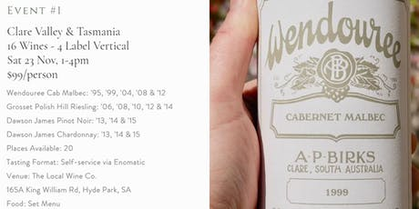Vertical Wine Tasting - Wendouree, Grosset & Dawson James wines tickets