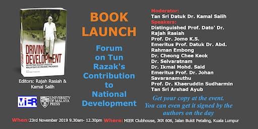 Book Launch & Forum on Tun Razak's Contribution to National Development