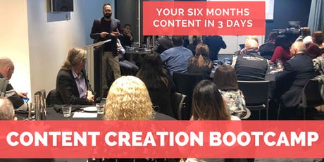 Learn How To Create SIX Months Content in 3 days tickets
