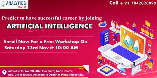Book Your Seat For Artificial Intelligence Free Workshop Session On 23 Nov.