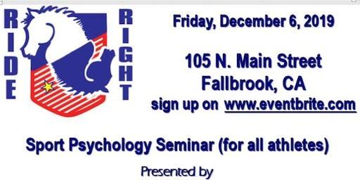 Daniel Stewart, Olympic  Sports Psychology Coach ,   comes to Fallbrook!