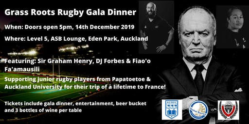 End of Year Junior Rugby Gala Dinner Fundraiser!
