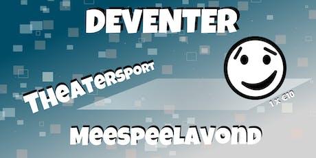 Deventer Theatersport meespeelavond tickets