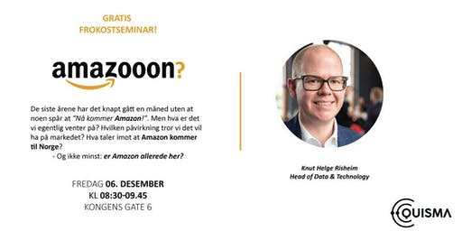Gratis frokostseminar: hva er greia med Amazon?