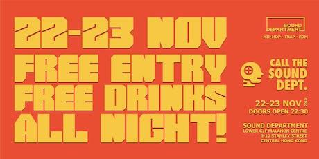 FREE ENTRY GUESTLIST (3 FREE Drinks) @ Sound Department tickets