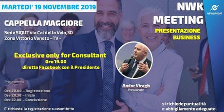 MEETING PRESENTAZIONE BUSINESS - NEWORKOM COMMUNITY - CAPPELLA MAGGIORE -TV biglietti