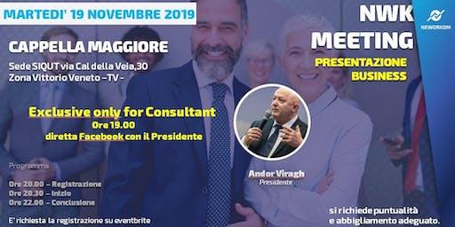 MEETING PRESENTAZIONE BUSINESS - NEWORKOM COMMUNITY - CAPPELLA MAGGIORE -TV