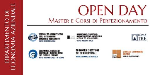 OPEN DAY MASTER E CORSI DI PERFEZIONAMENTO 2019