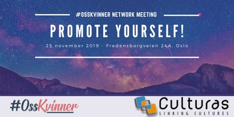 Promote yourself! - #OssKvinner Network meeting tickets