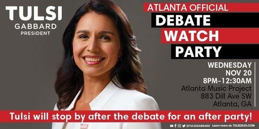 Official Tulsi Gabbard Debate Watch Party