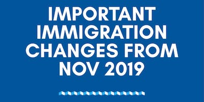 Important immigration changes from Nov 2019 by SET Education Sydney
