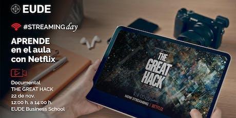 #StreamingDay | Visionado y debate del documental 'El Gran Hackeo' entradas