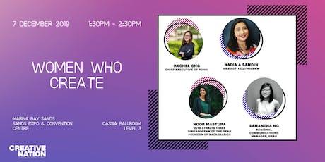 CREATIVE NATION: WOMEN WHO CREATE tickets