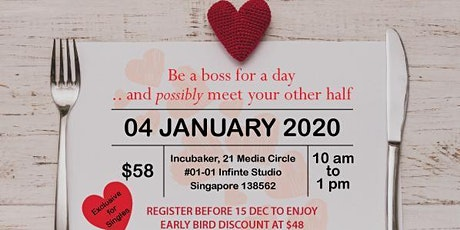 Be a boss for a day, and possibly meet your other half tickets