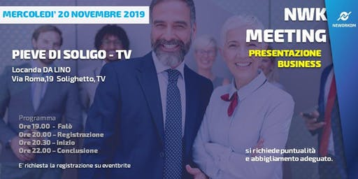 MEETING PRESENTAZIONE BUSINESS - NEWORKOM COMMUNITY - PIEVE DI SOLIGO-TV