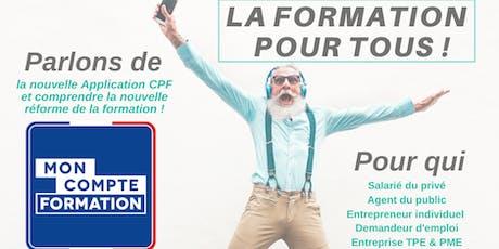 La formation pour tous - Présentation de l'application CPF billets
