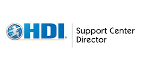 HDI Support Center Director 3 Days Virtual Live Training in Canberra tickets
