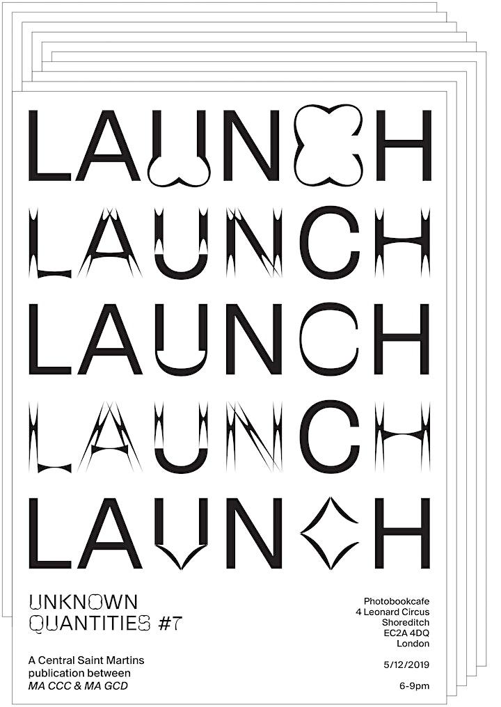 Magazine Launch: Unknown Quantities image