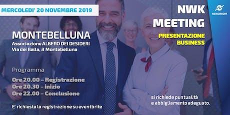 MEETING PRESENTAZIONE BUSINESS - NEWORKOM COMMUNITY - MONTEBELLUNA-TV biglietti
