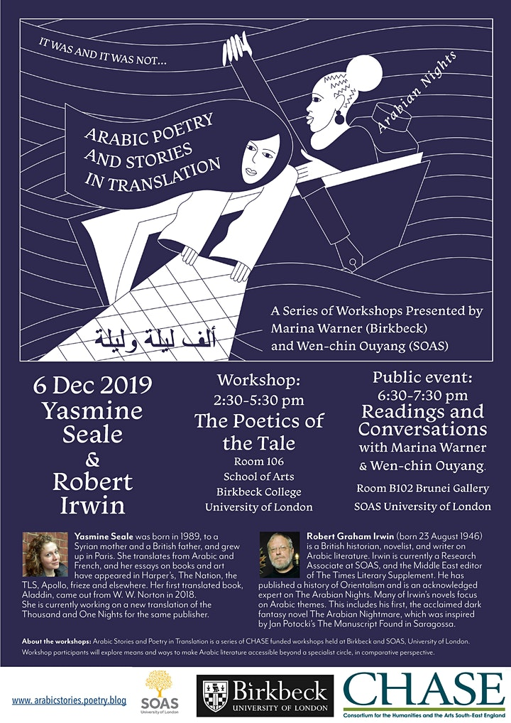 Arabic Stories and Poetry in Translation Workshop: The Poetics of the Tale image